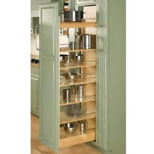 Kitchen Cabinets Pull Out Pantry by Rev A Shelf Tall Wood Pull Out Pantry With Adjustable