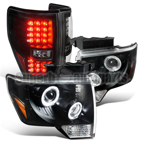 2013 ford f150 tail lights 2009 2013 ford f150 halo projector headlights led tail