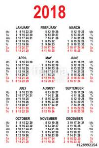 Peru Kalendar 2018 Quot Calendar 2018 Grid Template Quot Im 225 Genes De Archivo Y