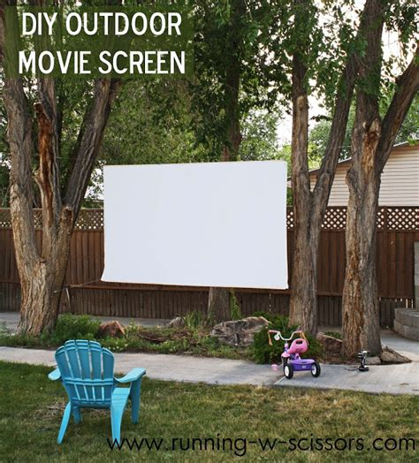 diy backyard movie theater running with scissors diy outdoor movie screen