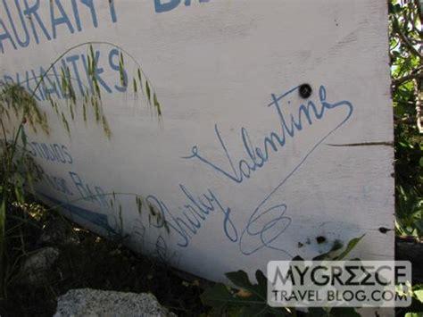 shirley location greece shirley sign above agios ioannis mykonos