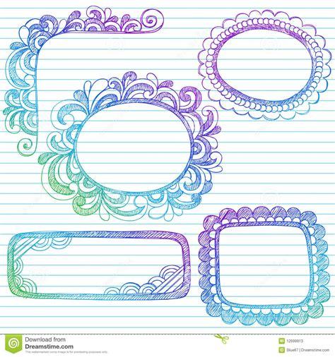 el doodle de hoy en el cuaderno incompleto doodles marcos de la frontera