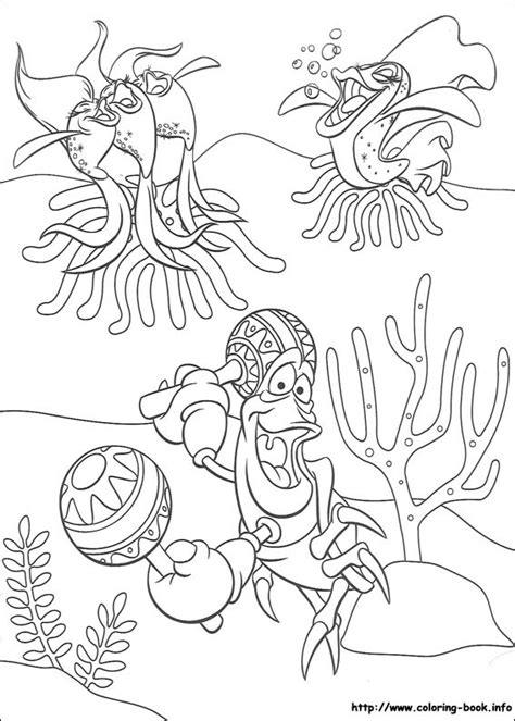 little mermaid and friends coloring pages the little mermaid crab coloring pages
