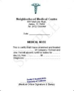 Dr Sick Note Template by Doctors October And Note On