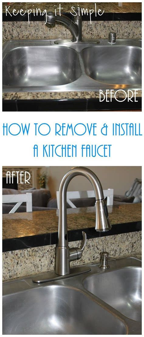 remove old kitchen faucet how to remove an old faucet and how to install a new moen