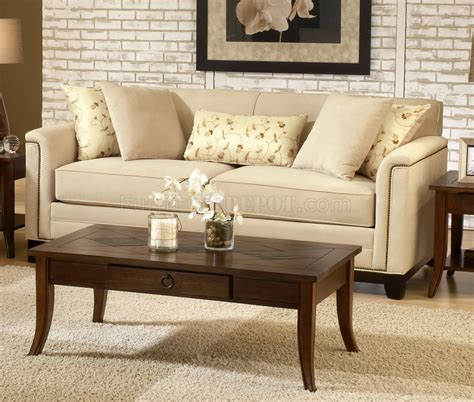 beige fabric contemporary living room sofa loveseat set