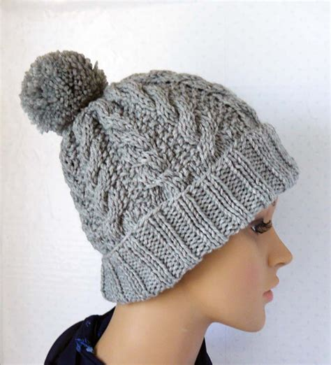 knitting pattern womens hat knitting pattern knitted cable beanie womens chunky knit