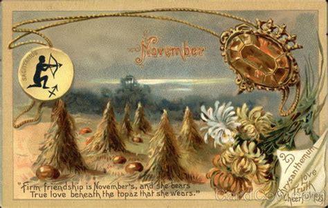 November Birthday Cards November Birthday Topaz And Chrysanthemum Birthday