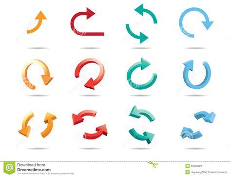 clipart frecce frecce ciclo 3d illustrazione vettoriale immagine di