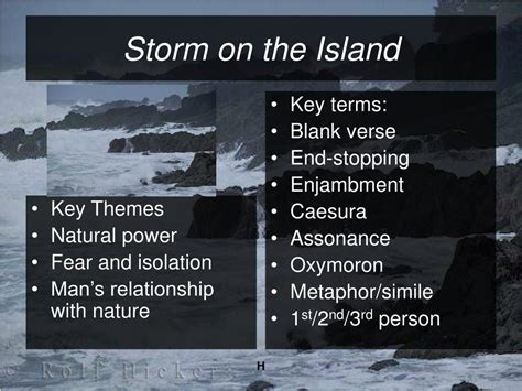 key themes meaning ppt storm on the island by seamus heaney powerpoint