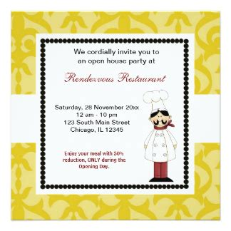 invitation card design for restaurant opening restaurant opening invitations announcements zazzle