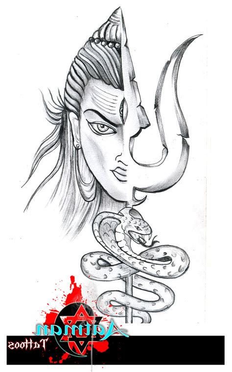 angry lord shiva tattoo designs esoteric vector illustration indian lord shiva