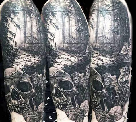quarter sleeve forest tattoo the 25 best dark forest tattoo ideas on pinterest