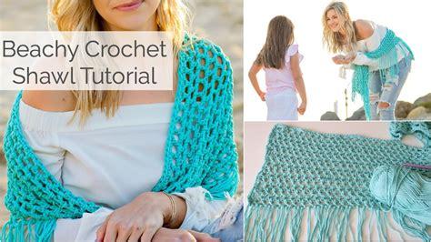 youtube tutorial shawl beachy crochet shawl tutorial beginner friendly youtube