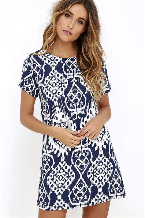 Carlotta Dres navy blue dress print dress