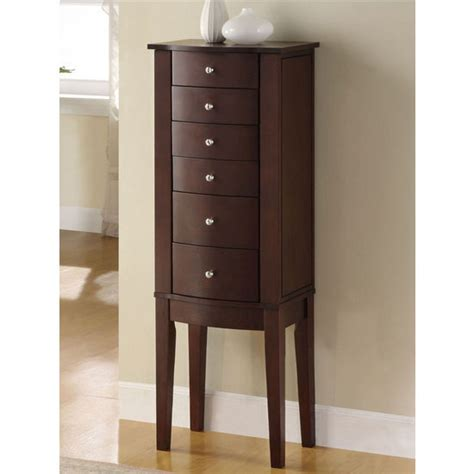 Powell Merlot Jewelry Armoire by Cabinet Organizers Powell Merlot Jewelry Armoire