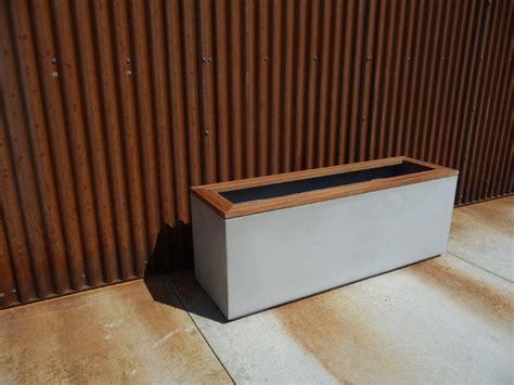 Concrete Trough Planters by Large Concrete Trough Planters Modern Outdoor Pots And
