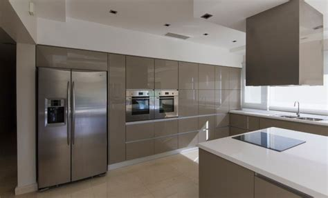 Rehau Kitchen Cabinets by Contemporary High Gloss Metallic Kitchen Modern