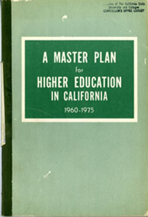 Professional Mba Csu Degree Planning by California State Master Plan Collection