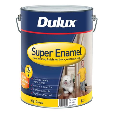 High Gloss Interior Paint by Dulux Enamel 10l High Gloss White Interior Paint