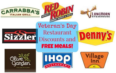 veteran s day restaurant discounts and freebies active