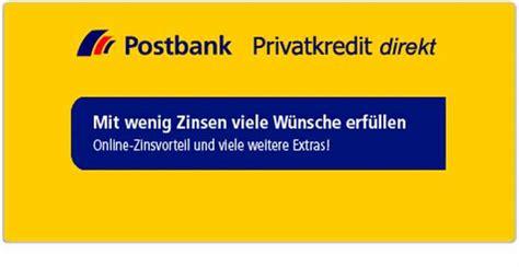 postbank privatkredit zinsen postbank kredit infos zu konditionen laufzeit und service