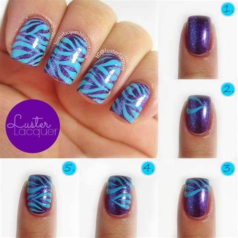 nail art tutorial animal print zebra print nails tutorial confetti quot center stage quot topped