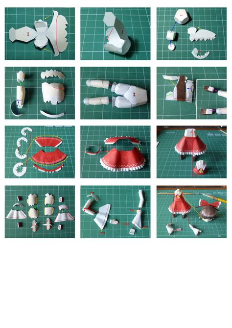 Paper Craft Steps - reimu touhou papercraft chibi 183 how to make a paper