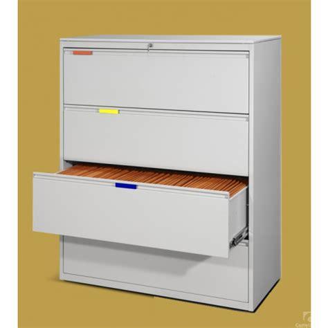 cassettiere sospese classificatore da ufficio in metallo con 4 cassetti per