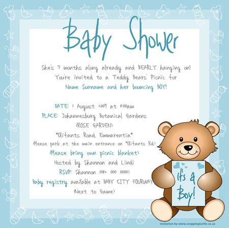 Baby Shower Email Invitations by Digital Invitations Snappingturtle