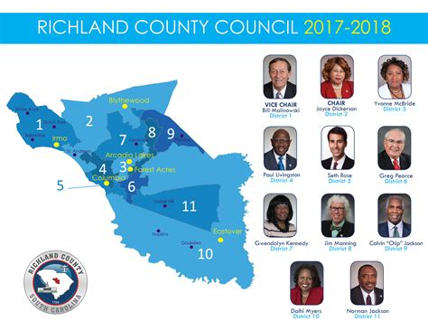 Richland Court Records Richland County Gt Government Gt County Council Gt County Council Districts