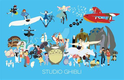 Studio Ghibli Movies tribute to studio ghibli by byakko 777 on deviantart