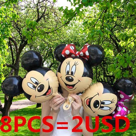 Botol Mini Mickey Mouse new 8pcs mini mickey mouse foil balloons minnie