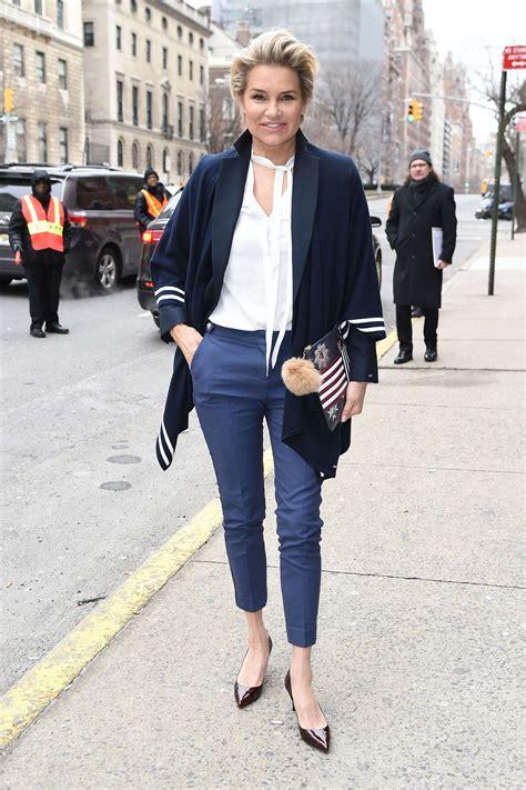 yolanda foster style in clothing yolanda foster arriving at tommy hilfiger 2016 fashion