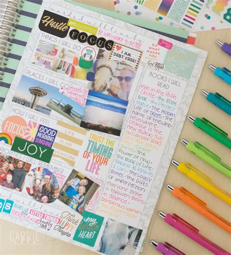 Wall Stickers Make Your Own printable vision board template carrie elle