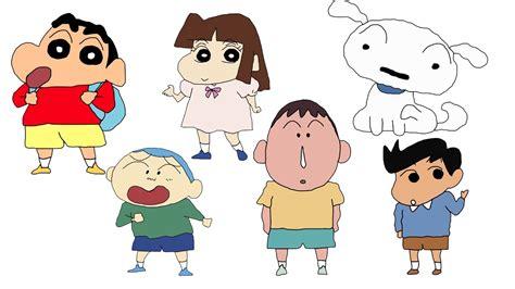Crayon Shin Chan Family how to draw crayon shin chan characters hde