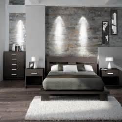 Simple and modern bedroom set in espresso brown via lowes ca