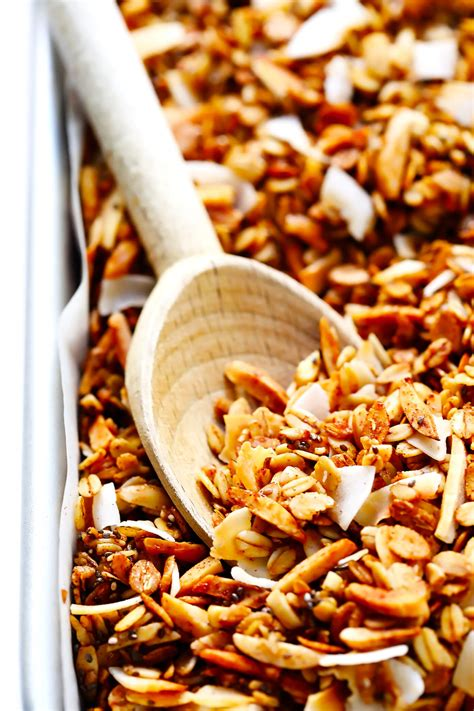 best recipe for granola the best healthy granola gimme some oven