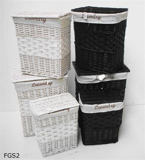 white bathroom basket white black wicker rectangle laundry basket bin bathroom