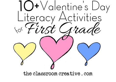 Valentine s day literacy activities for first grade