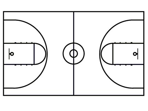 basketball court diagram printable basketball court clipart best