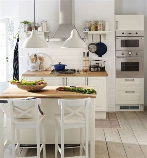 Ikea Kitchen Island With Stools Ingolf Bar Stools At The Stenstorp Kitchen Island