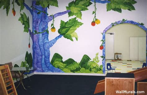 Alice In Wonderland Wall Murals preschool wall murals daycare murals playroom mural