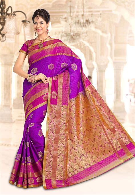 pothys silk sarees pothys purple art silk fancy saree footwear jewellery