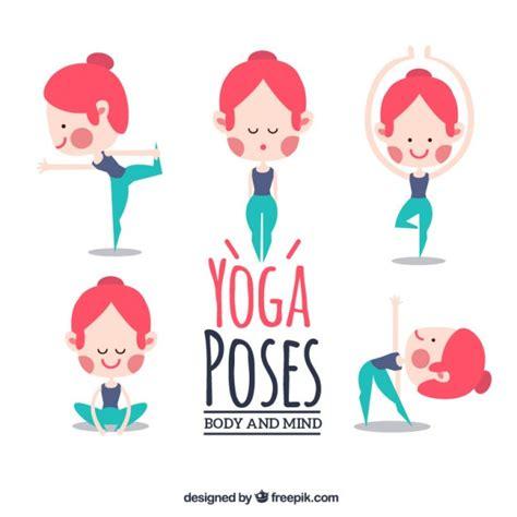 imagenes de posturas de yoga gratis niza posturas de yoga chica haciendo descargar vectores