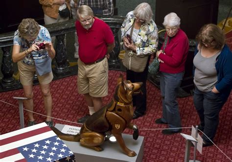 dogs for wounded warriors artprize 2016 winner wounded warrior dogs was an emotional event for artist