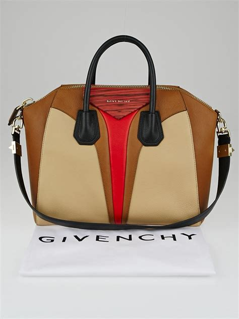 New Tas Givenchy Antigona Bag Leather Like Ori givenchy beige brown tricolor sugar goatskin leather medium antigona bag yoogi s closet