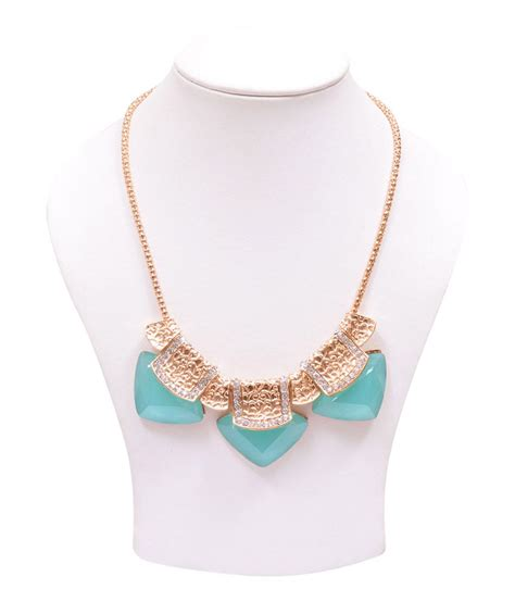 rubera s mint green color statement necklace buy rubera s