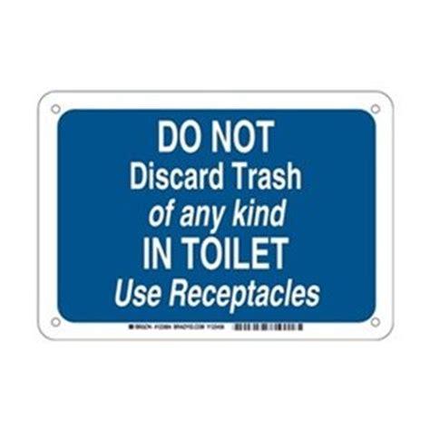brady 123984 restroom sign legend quot do not discard trash