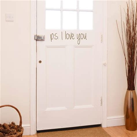 Wall Decals For Entryway ps i you door entryway foyer quote wall decals stickers